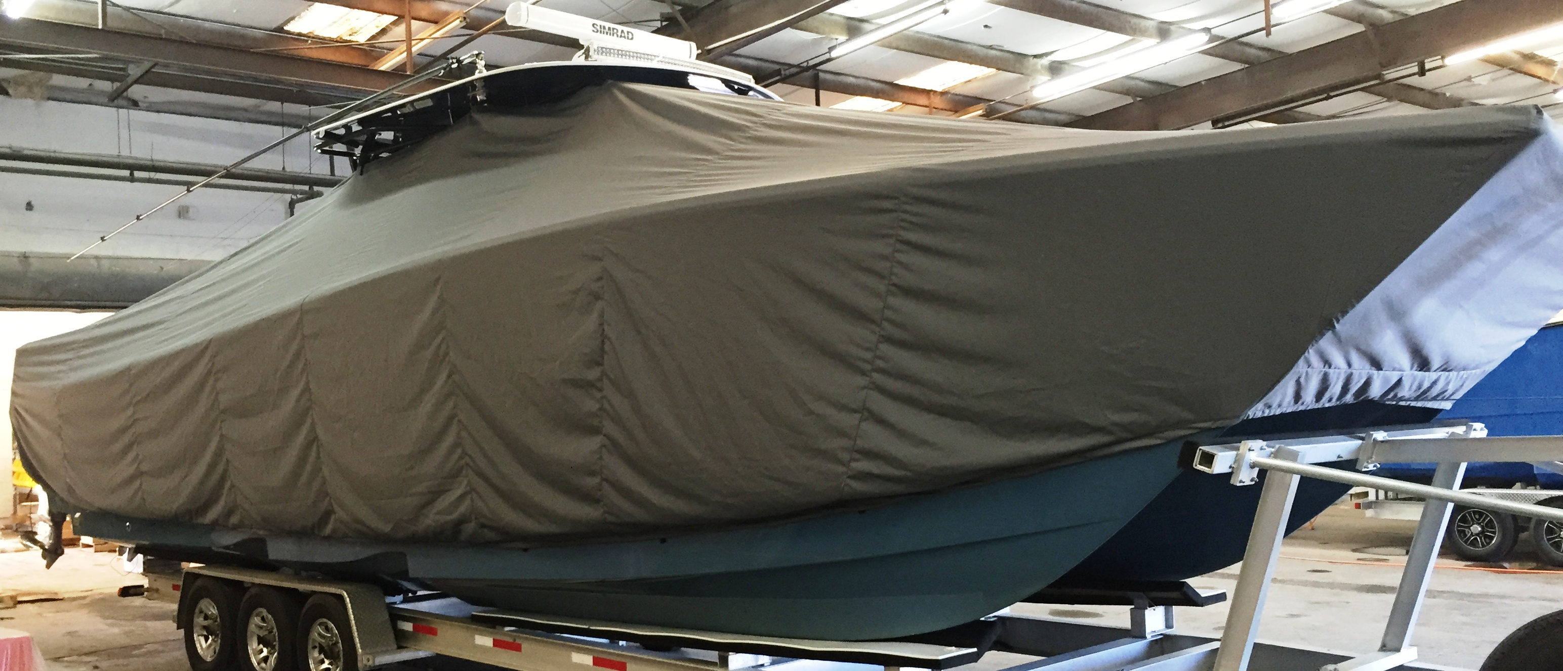 Freeman 37, 20xx, TTopCovers™ T-Top boat cover, starboard front