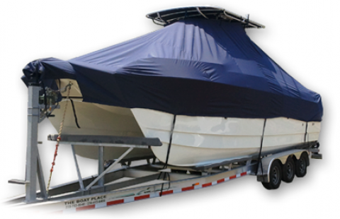 Glacier Bay 2665 Canyon Runner, 20xx, TTopCovers™ T-Top boat cover, port front