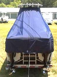 Glacier Bay 2665 Canyon Runner, 20xx, TTopCovers™ T-Top boat cover rear