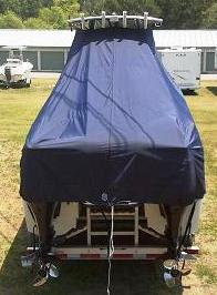 Glacier Bay 2665, 20xx, TTopCovers™ T-Top boat cover rear