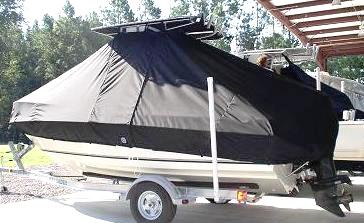 Glassmaster, 196CC, 20xx, TTopCovers™ T-Top boat cover, port rear
