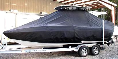 Glasstream 242CCX, 20xx, TTopCovers™ T-Top boat cover, port side