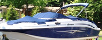 Godfrey, Hurricane Sundeck 260, 2006, Bimini Top in Boot, Bow Cover, Cockpit Cover, port front