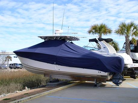 Grady White Bimini 306, 20xx, TTopCovers™ T-Top boat cover 97, port rear