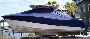Grady White Bimini 306, 20xx, TTopCovers™ T-Top boat cover side