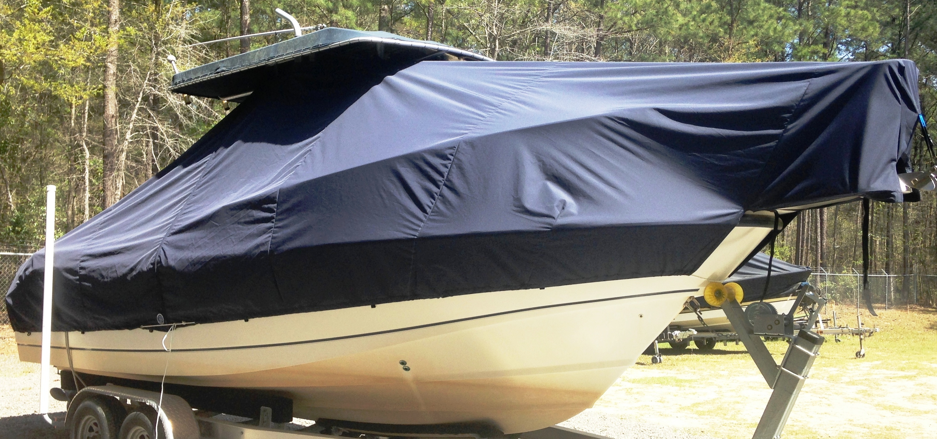 Grady White Canyon 283, 20xx, TTopCovers™ T-Top boat cover, starboard front