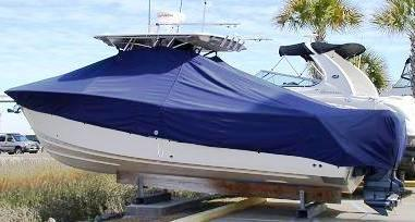 Grady White Canyon 306, 20xx, TTopCovers™ T-Top boat cover, port rear