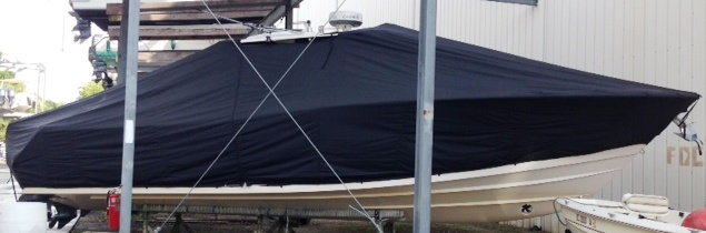 Grady White Canyon 376, 20xx, TTopCovers™ T-Top boat cover, starboard side