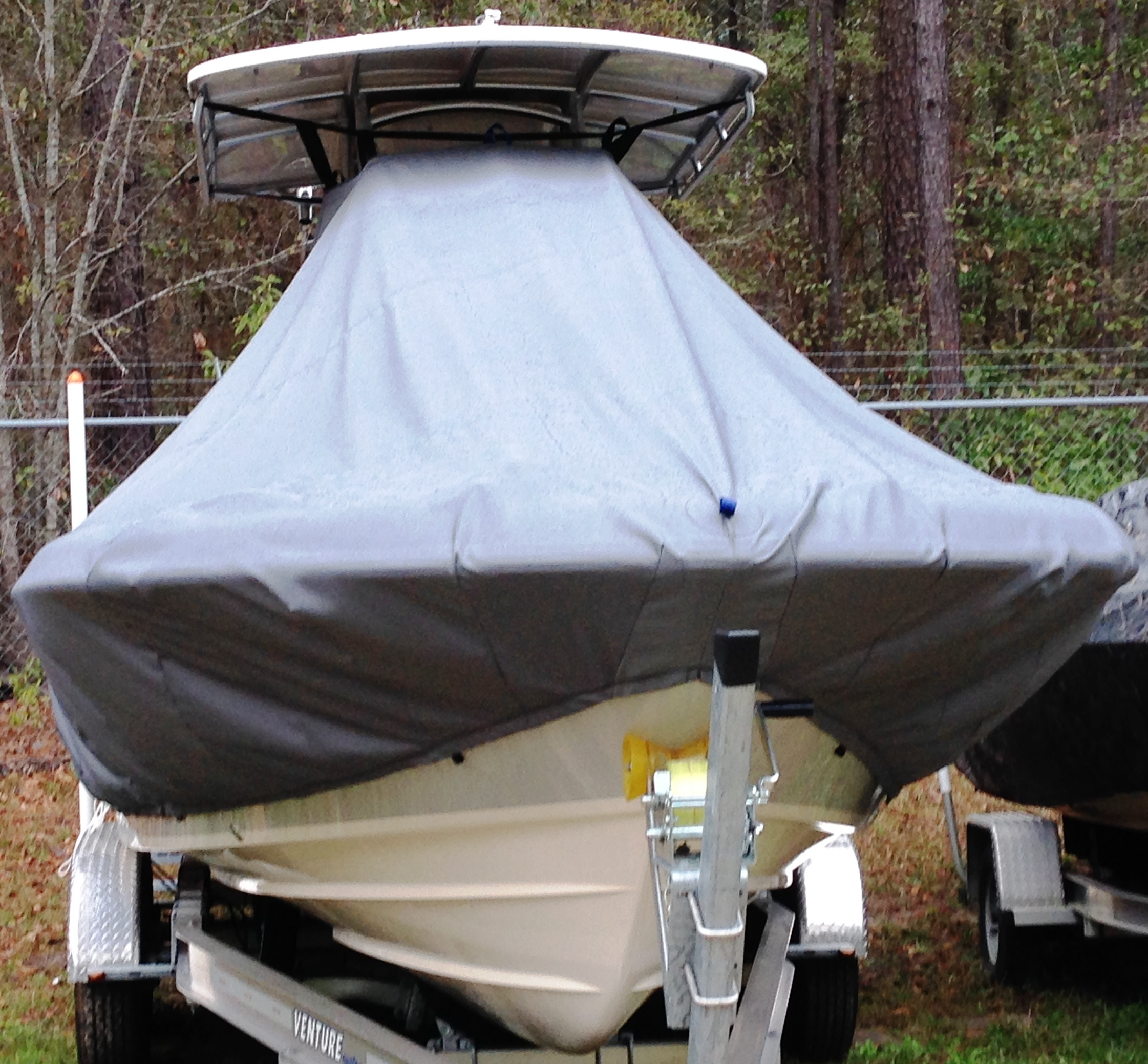 Grady White Coastal Explorer 251, 20xx, TTopCovers™ T-Top boat cover front