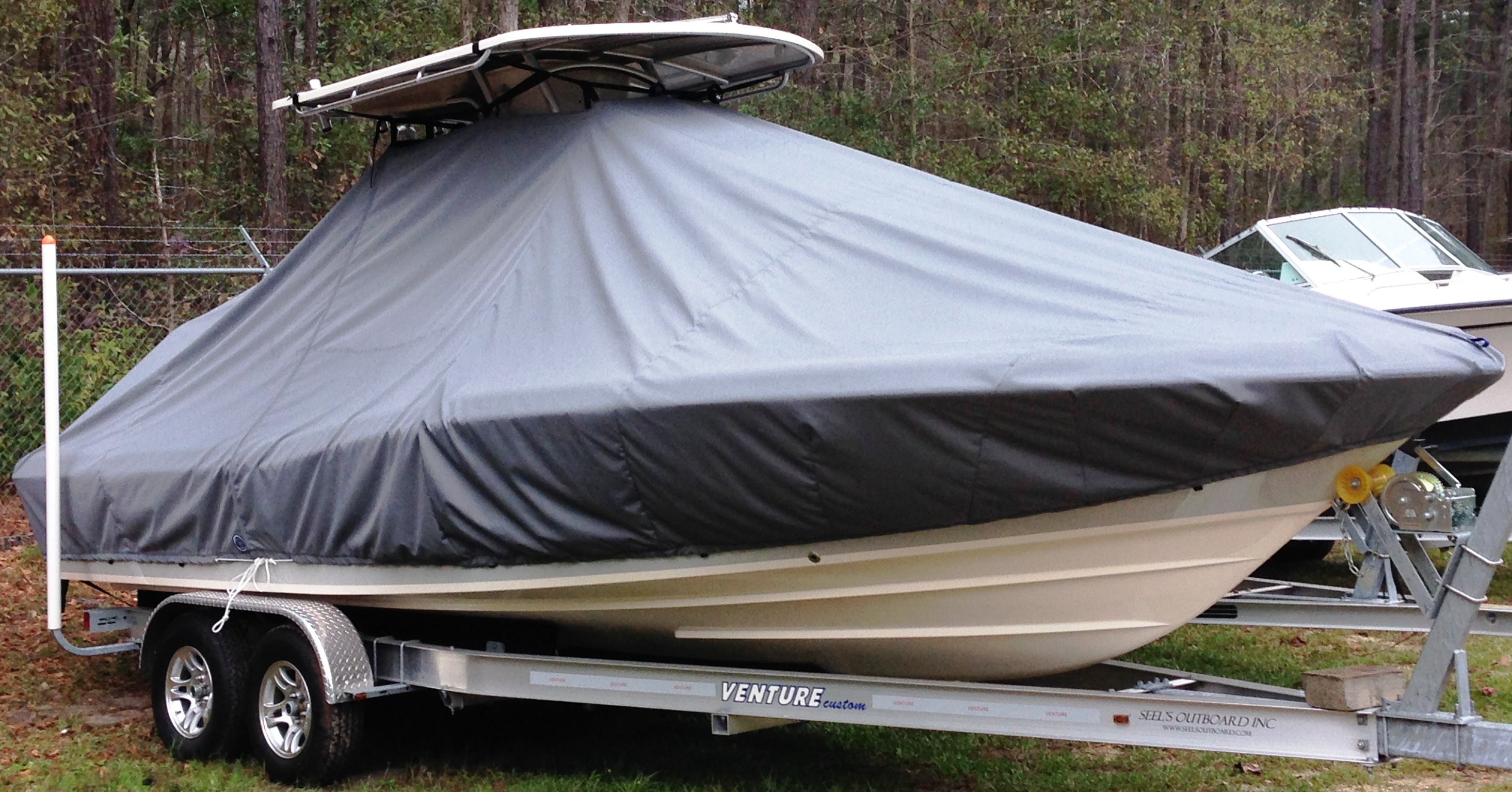 Grady White Coastal Explorer 251, 20xx, TTopCovers™ T-Top boat cover, starboard front