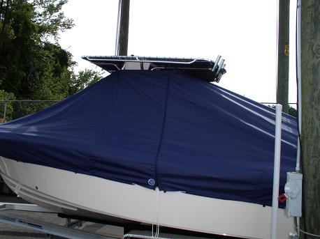 Grady White Fisherman 222, 20xx, TTopCovers™ T-Top boat cover 83 side