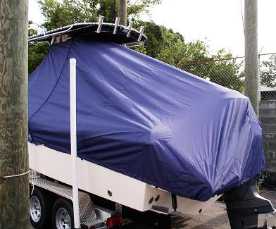 Grady White Fisherman 222, 20xx, TTopCovers™ T-Top boat cover rear