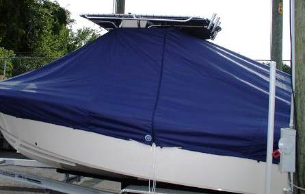 Grady White Fisherman 222, 20xx, TTopCovers™ T-Top boat cover side