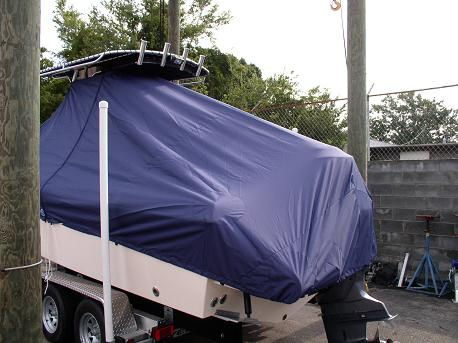 Grady White Fisherman 222, TTopCovers™ T-Top boat cover 83 rear
