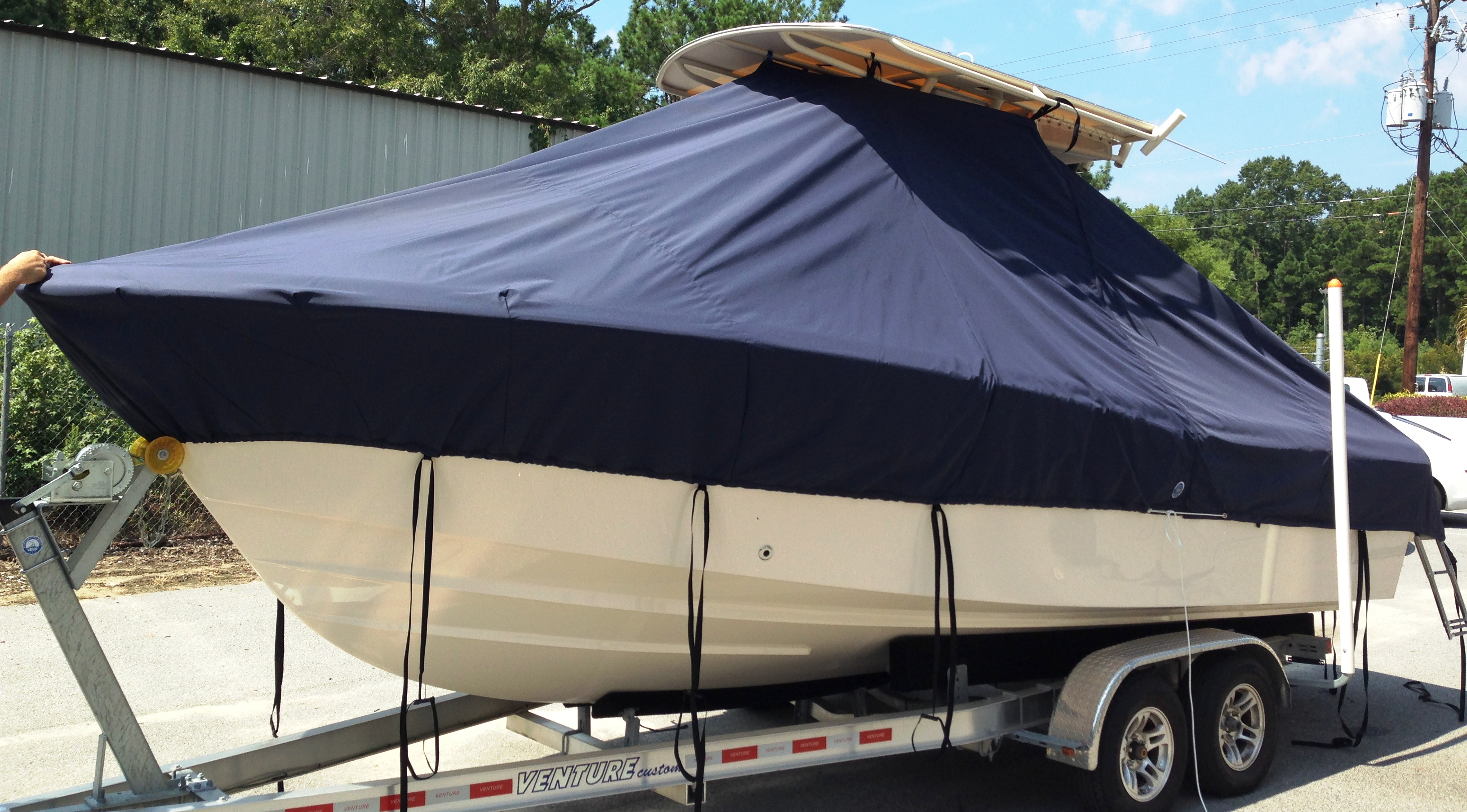 Grady White Fisherman 230, 20xx, TTopCovers™ T-Top boat cover, port front