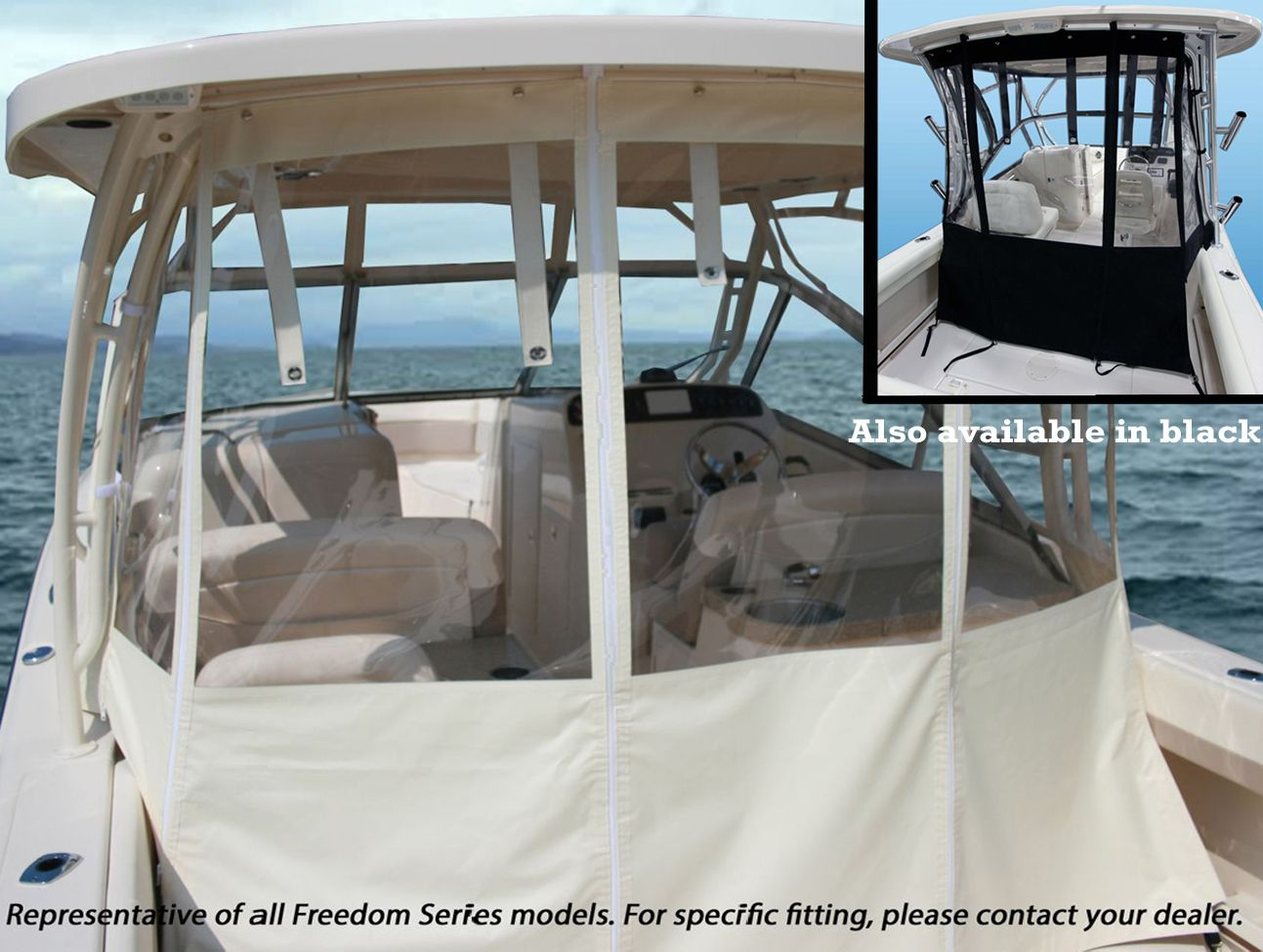 Grady White 174 Freedom 255 2015 Hard Top Aft Drop Curtain