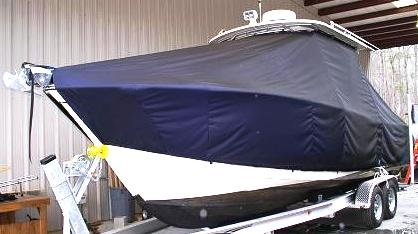 Grady White Freedom 275, 20xx, TTopCovers™ T-Top boat cover, port bow