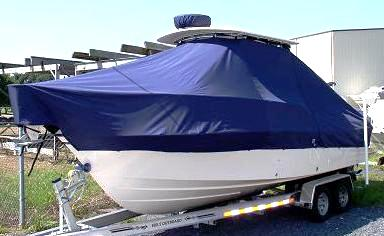 Grady White Gulfstream 232, 20xx, TTopCovers™ T-Top boat cover, port front