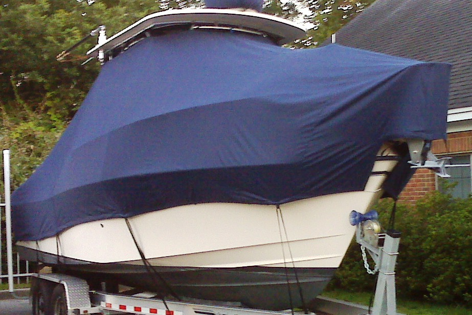 Grady White Gulfstream 232, 20xx, TTopCovers™ T-Top boat cover, starboard front