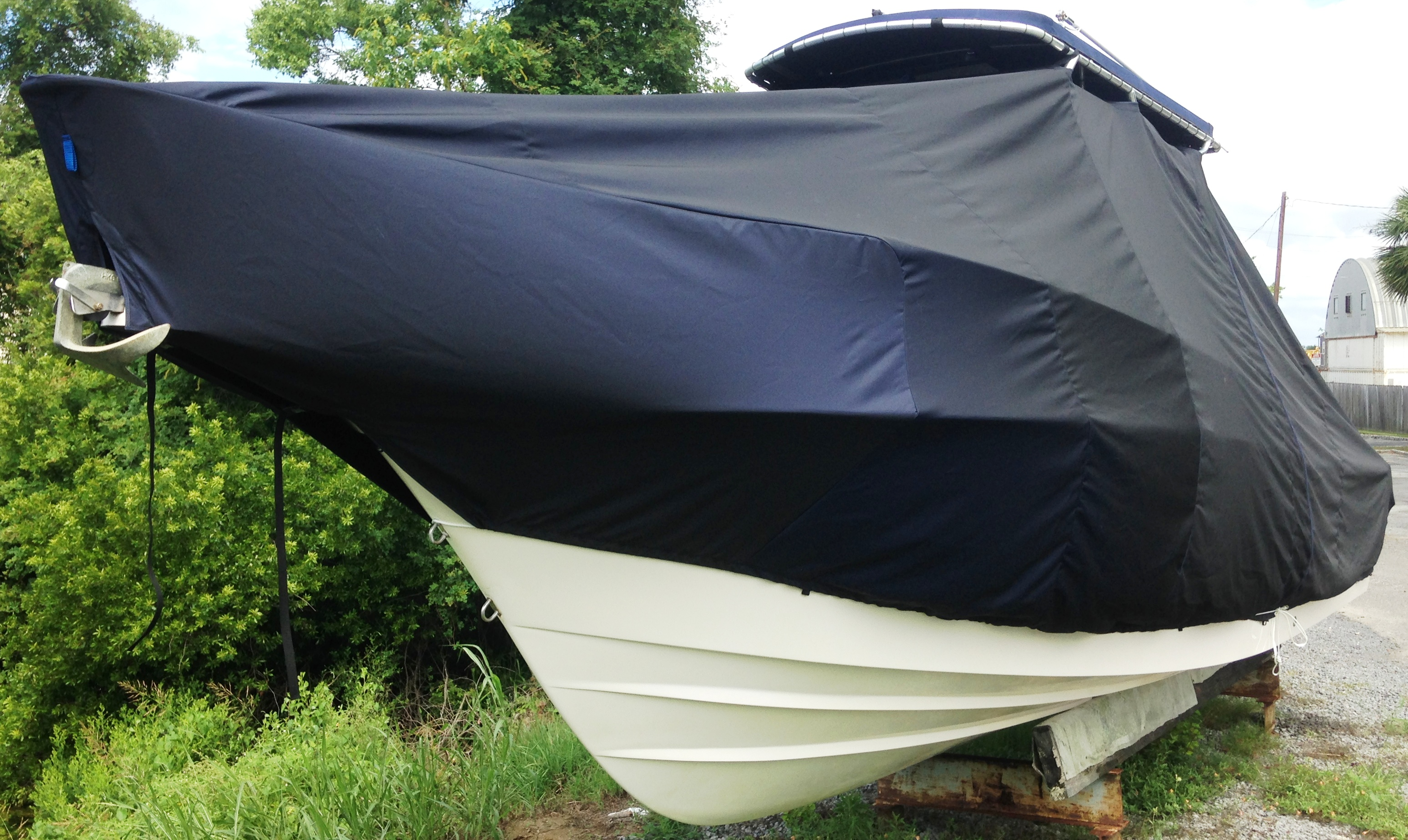 Grady White Islander 268, 19xx, TTopCovers™ T-Top boat cover, port front