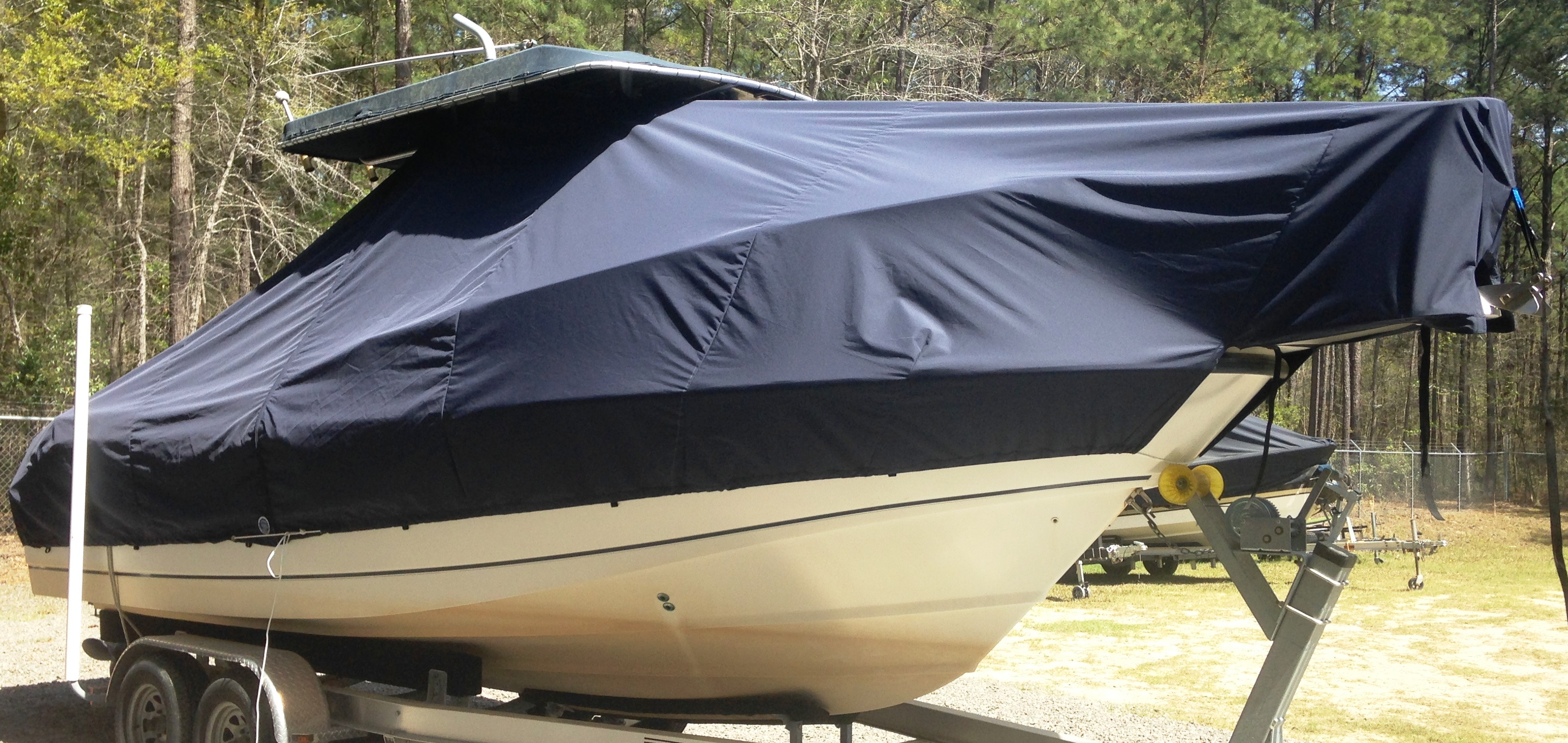 Grady White Release 283, 20xx, TTopCovers™ T-Top boat cover, starboard front