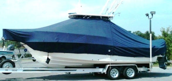 Grady White Seafarer 228, 20xx, TTopCovers™ T-Top boat cover Sand Bags side