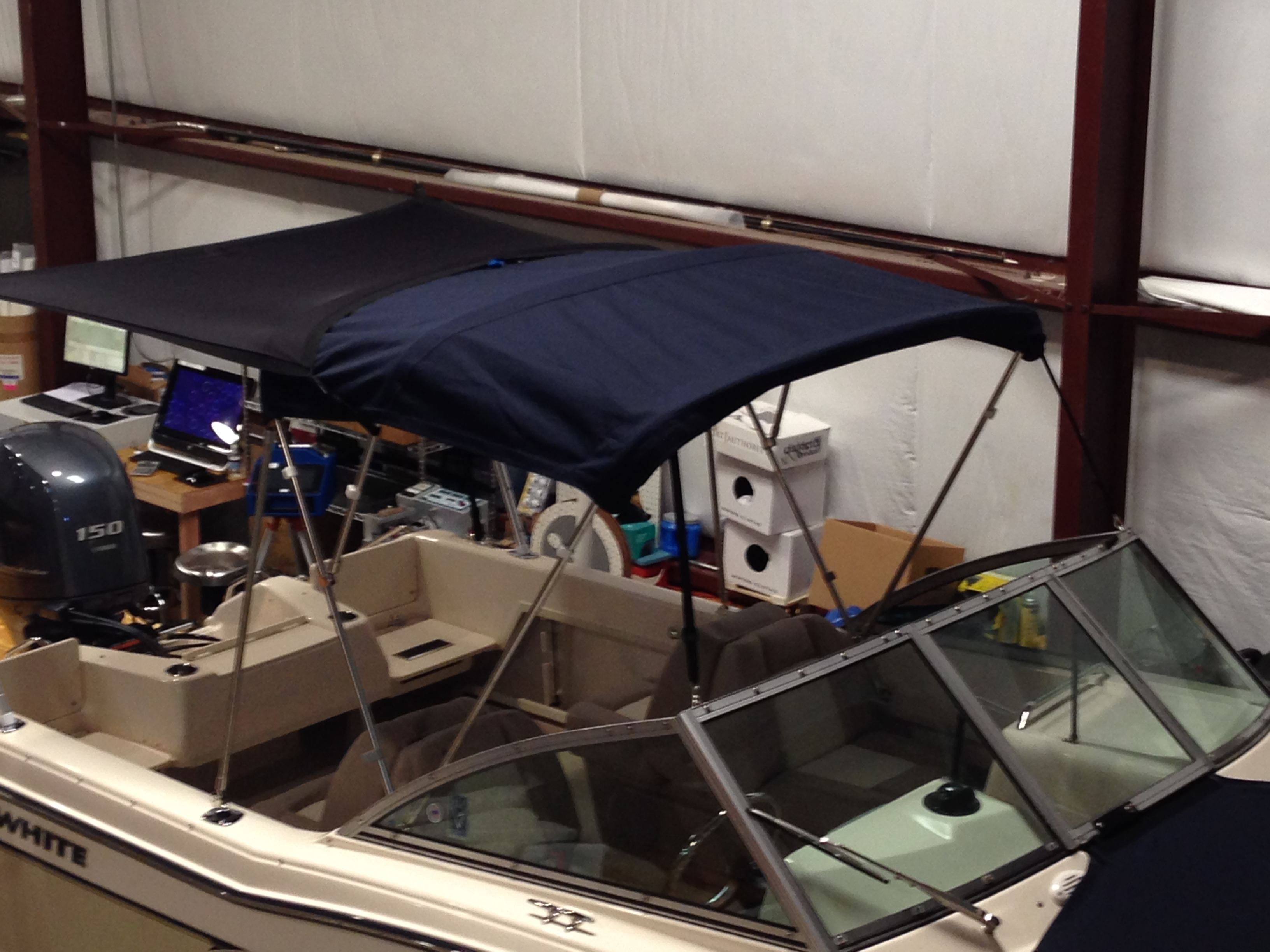 Grady White Tournament 192, 20xx Boat Shade Kit Bimini, starboard front