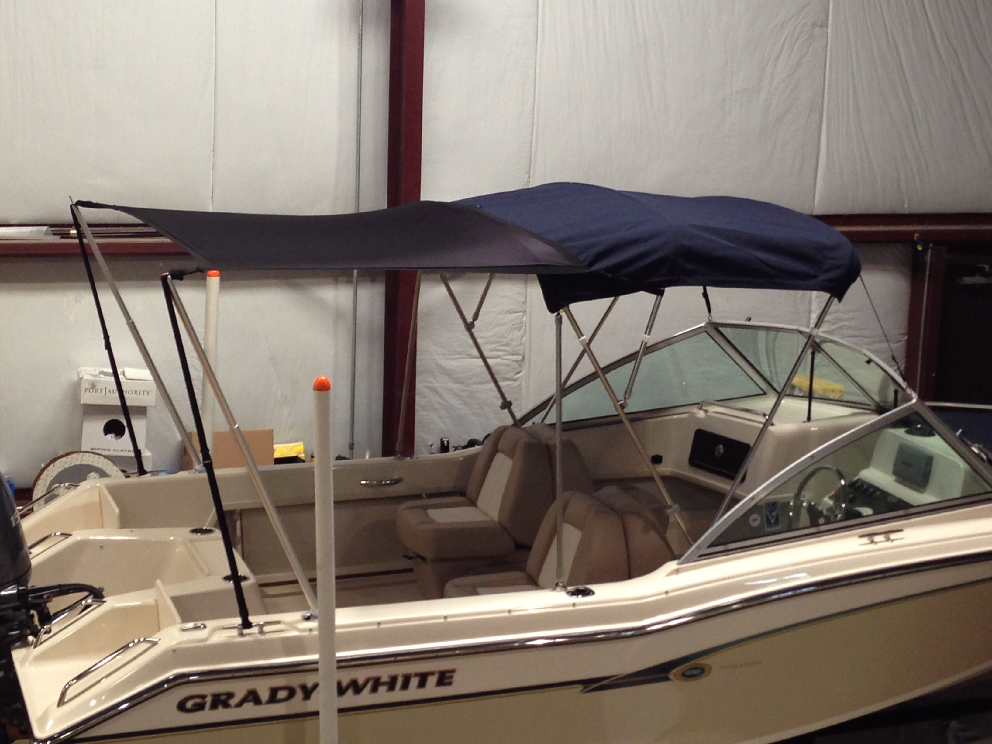 Grady White Tournament 192, 20xx Boat Shade Kit Bimini, starboard rear
