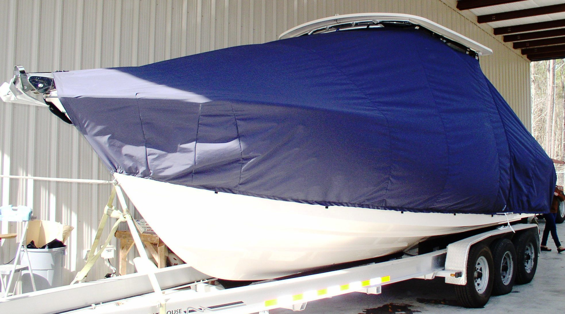 Grady White Tournament 275, 20xx, TTopCovers™ T-Top boat cover, port front
