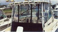 Grady White, Tournament 307, 2010, Factory Hard Top, Side Curtains, Aft Drop Curtain, Ivory Stamoid, stbd rear