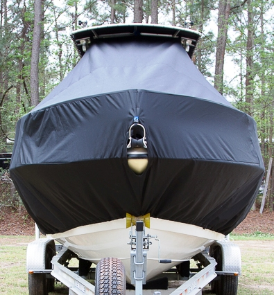 HydraSports 212CC, 20xx, TTopCovers™ T-Top boat cover front