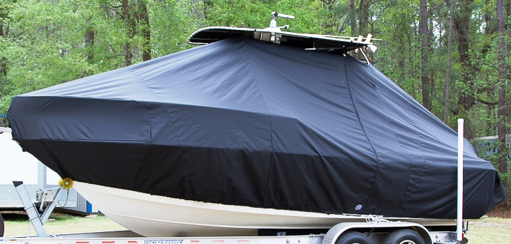 HydraSports 212CC, 20xx, TTopCovers™ T-Top boat cover, port front