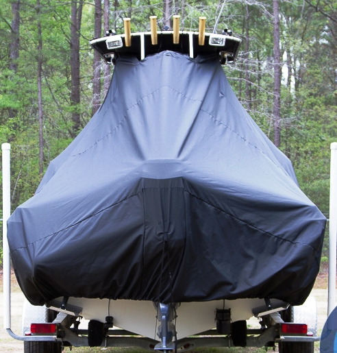 HydraSports 212CC, 20xx, TTopCovers™ T-Top boat cover rear