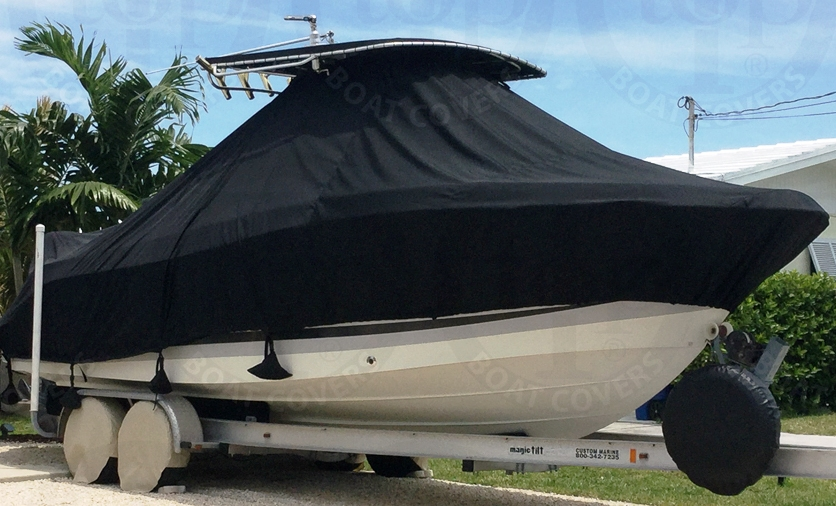 HydraSports 2500VX early model, 2005, TTopCovers™ T-Top boat cover, starboard front