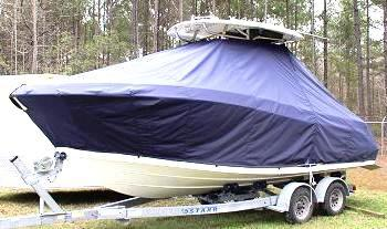 Hydrasports 2200CC, 19xx, TTopCovers™ T-Top boat cover, port front