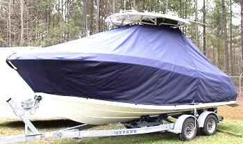 Hydrasports 2200CC, 20xx, TTopCovers™ T-Top boat cover, port front