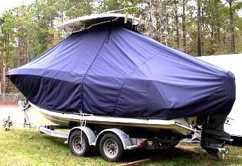 Hydrasports 2200CC, 20xx, TTopCovers™ T-Top boat cover, port rear