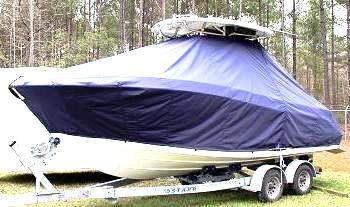 Hydrasports 2200VX, 20xx, TTopCovers™ T-Top boat cover, port front