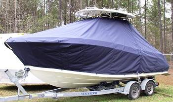 Hydrasports 2200, 20xx, TTopCovers™ T-Top boat cover, port front