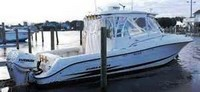 Hydrasports, 3300VX, 2007, Factory Hard Top, White Spray Shield, Side Curtains, Aft Curtain, port rear