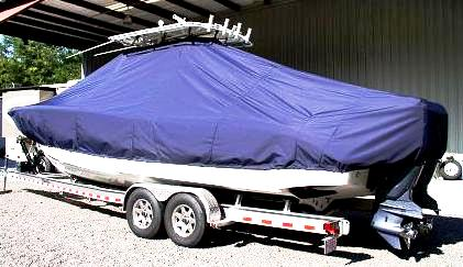 Jupiter 29CC, 20xx, TTopCovers™ T-Top boat cover, port rear