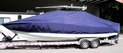 Jupiter 29CC, 20xx, TTopCovers™ T-Top boat cover, port side