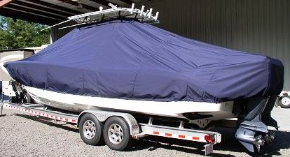 Jupiter 30CC, 20xx, TTopCovers™ T-Top boat cover, port rear