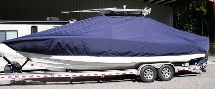 Jupiter 30CC, 20xx, TTopCovers™ T-Top boat cover, port side