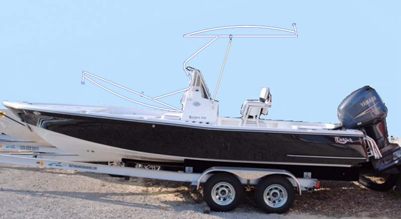 K2 Marine Blackjack 224, 2012, T-Topless™ p20, port side