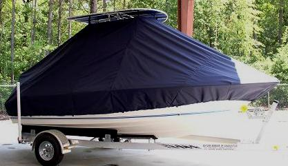Key West 186CC, 20xx, TTopCovers™ T-Top boat cover Front 380