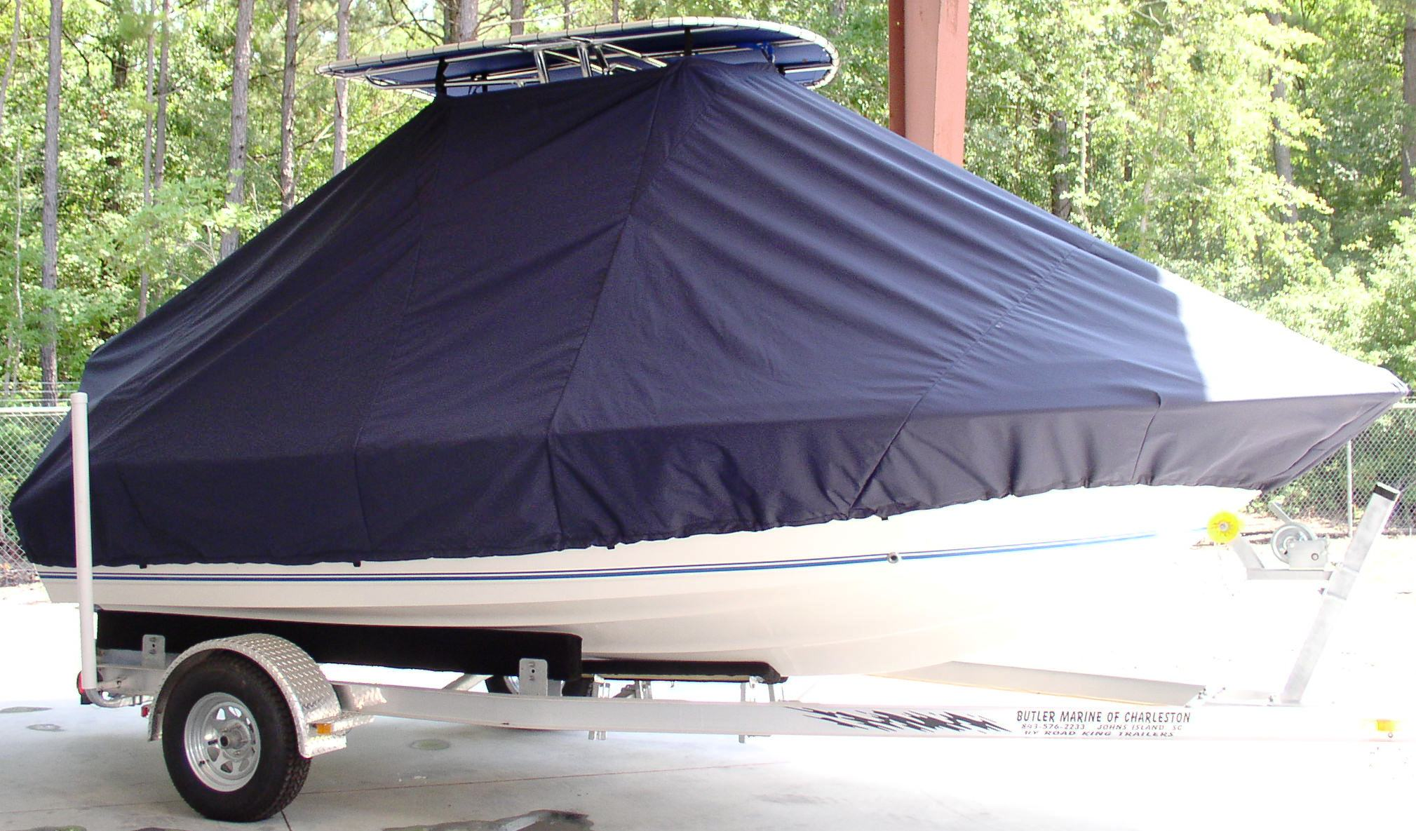 Key West 186CC, 20xx, TTopCovers™ T-Top boat cover front