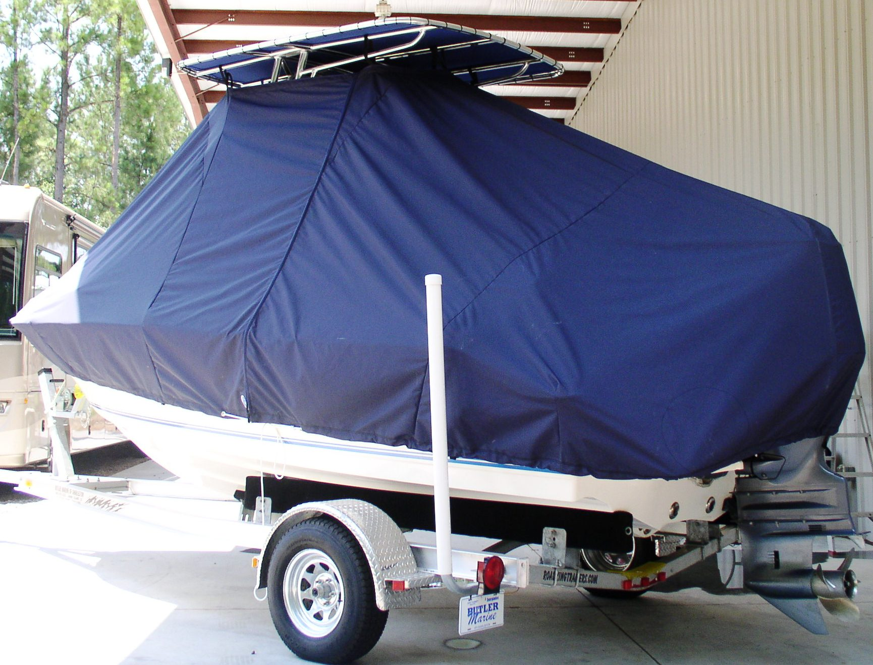 Key West 186CC, 20xx, TTopCovers™ T-Top boat cover rear
