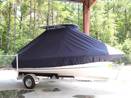 Key West 186CC, TTopCovers™ T-Top boat cover Front 380