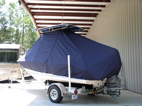 Key West 186CC, TTopCovers™ T-Top boat cover Rear 380